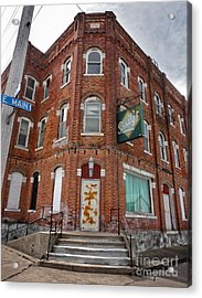 Old Brick Building In Downtown Montezuma Iowa - 01 Acrylic Print by Gregory Dyer