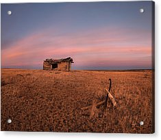 Old Cabin Sunset 1 Acrylic Print by Leland D Howard