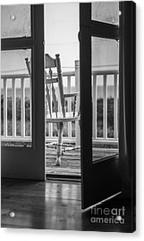 Old Chair At The Beach House Acrylic Print by Diane Diederich