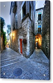 Old City Girona Acrylic Print by Isaac Silman