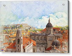 Old City Of Dubrovnik Acrylic Print by Catf