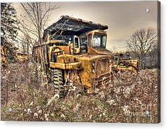 Old Construction Truck Acrylic Print by Dan Friend