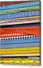 Old Country Store Fabrics Acrylic Print by Christine Till