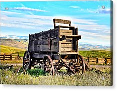 Old Covered Wagon Acrylic Print by Athena Mckinzie