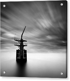Old Crane Acrylic Print by Dave Bowman