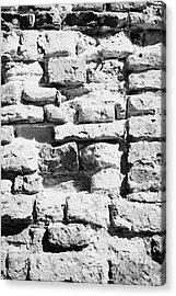 Old Crumbling Red Bricks In Building In Kazimierz Krakow Acrylic Print by Joe Fox