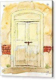 Old Door Acrylic Print by Keshava Shukla