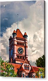 Old Dupage County Courthouse Clouds Acrylic Print by Christopher Arndt