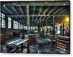Old Factory Ruin Acrylic Print by Carlos Caetano