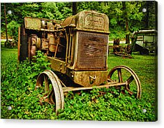 Old Farm Tractor Acrylic Print by Sebastian Musial