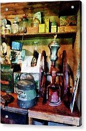 Old-fashioned Coffee Grinder Acrylic Print by Susan Savad