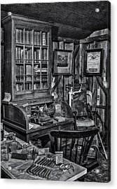 Old Fashioned Doctor's Office Bw Acrylic Print by Susan Candelario
