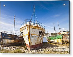 Old Fishing Boats Camaret-sur-mer Brittany France Acrylic Print by Colin and Linda McKie