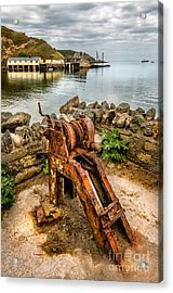 Old Fishing Port Acrylic Print by Adrian Evans