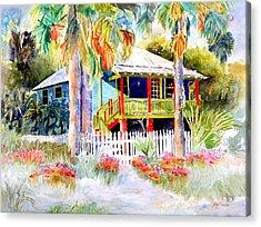 Old Florida House  Acrylic Print by Joan Dorrill