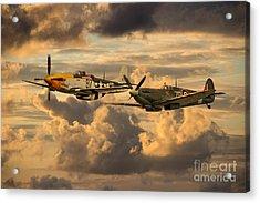 Old Flying Machines  Acrylic Print by J Biggadike