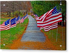 Old Glory Acrylic Print by Andy Lawless