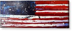 Old Glory Beneath The Stars Acrylic Print by Charles Jos Biviano
