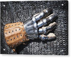 Old Glove Of A Medieval Knight Acrylic Print by Matthias Hauser