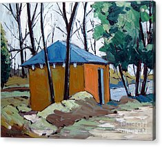 Old Golf Course Shed No.5 Acrylic Print by Charlie Spear