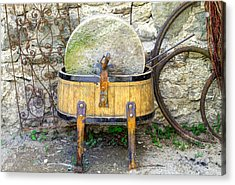 Old Grindstone Acrylic Print by Ivan Slosar