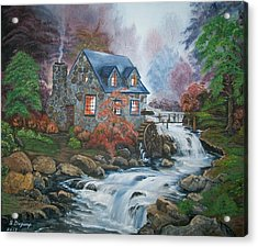 Old Grist Mill Acrylic Print by Sharon Duguay