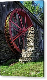 Old Grist Mill Vermont Acrylic Print by Edward Fielding