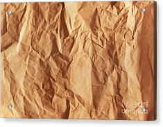 Old Grunge Creased Paper Texture. Retro Vintage Background Acrylic Print by Michal Bednarek