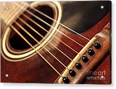 Old Guitar Acrylic Print by Elena Elisseeva
