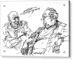 Old Guys  Acrylic Print by Ylli Haruni