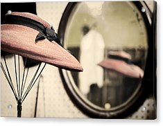 Old Hat Acrylic Print by Heather Applegate
