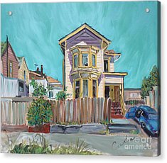 Old House In East Oakland Acrylic Print by Asha Carolyn Young