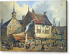 Old Houses And St Olaves Church Acrylic Print by George Shepherd