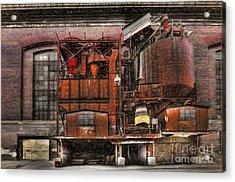 Old Kansas City Factory Building  Acrylic Print by Liane Wright