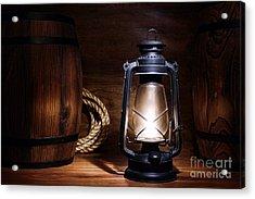 Old Kerosene Lantern Acrylic Print by Olivier Le Queinec