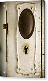 Old Lock Acrylic Print by Tim Hester