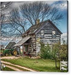 Old Log Cabin Acrylic Print by Paul Freidlund
