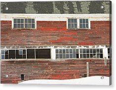 Old Maine Barn In Winter Acrylic Print by Keith Webber Jr