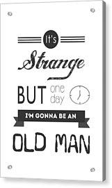 Old Man Acrylic Print by Parmveer Masuta