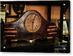 Old Mantelpiece Clock Acrylic Print by Kaye Menner