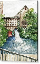 Old Mill Aqueduct Acrylic Print by Elle Smith  Fagan