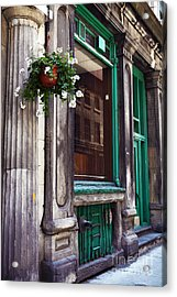 Old Montreal Architecture Acrylic Print by John Rizzuto