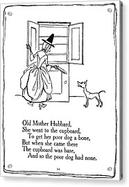 Old Mother Hubbard, 1913 Acrylic Print by Granger