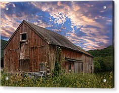 Old New England Barn Acrylic Print by Bill Wakeley