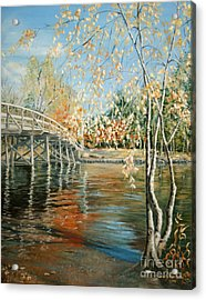 Old North Bridge Concord Acrylic Print by Wendy Griffiths