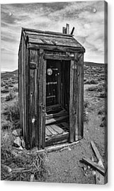 Old Outhouse Acrylic Print by Garry Gay