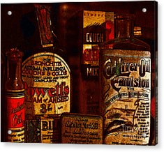 Old Pharmacy Bottles - 20130118 V2b Acrylic Print by Wingsdomain Art and Photography