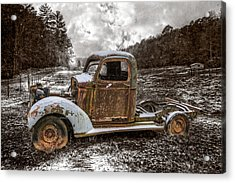 Old Plymouth Acrylic Print by Debra and Dave Vanderlaan
