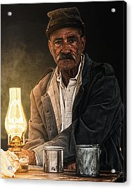 Old Rebel Acrylic Print by Ron  McGinnis