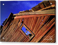 Old Red Barn Acrylic Print by Bob Christopher